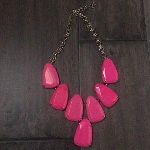 Kendra Scott bright pink necklace